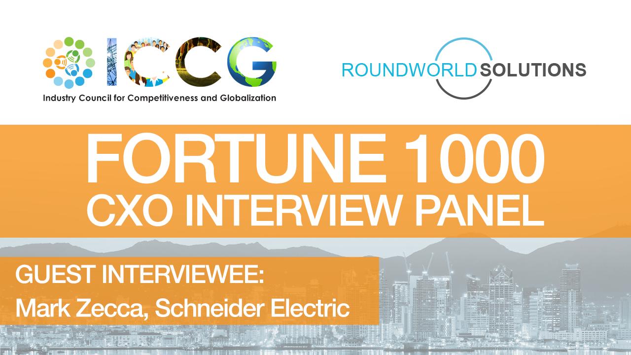 Fortune 1000 RoundWorld-ICCG CXO Interview Panel: Mark Zecca, Schneider Electric